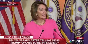 Speaker Pelosi Prays For Trump, And For An Intervention