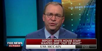 Mick Mulvaney Admits USS John McCain's Name Was Covered; Blames 'Low Level Person'