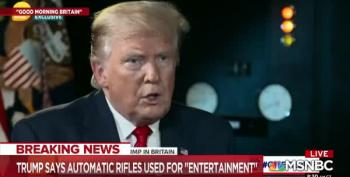 Piers Morgan: Why Do Americans Need AR-15s? Trump's Reason: 'Entertainment!'