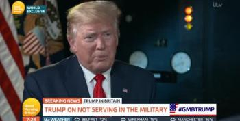 President Bone Spurs Makes Excuses To Piers Morgan
