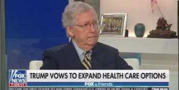 Mitch McConnell Reacts To Trump's 'New' Healthcare 'Plan'
