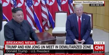 Trump Meets Kim Jong Un In The DMZ