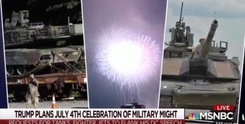 Trump's July 4th 'Salute To Me, Me, Me!' Looks Like It Will Be A Hot, Wet Mess