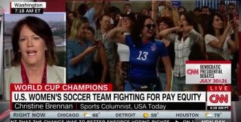 In France, Women's World Cup Fans Chant 'Equal Pay! Equal Pay!'
