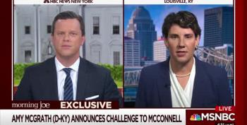 Amy McGrath Announces She Is Running For Mitch McConnell's Senate Seat