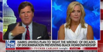 Tucker's White Power Hour Wails Over Kamala Harris's Housing Plan