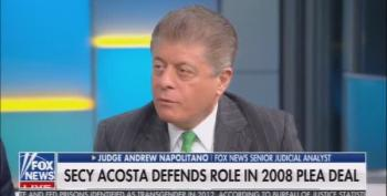 Judge Napolitano: Alex Acosta Will Be Gone By Friday