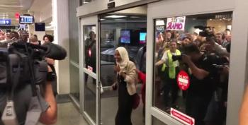 Crowd Gives Rep. Ilhan Omar A Hero's Welcome