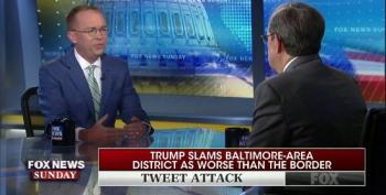 Mick Mulvaney Lamely Pretends Trump's Baltimore Tweets Weren't Racist