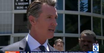 CA Governor Rants About 'Complicit' Lawmakers In DC