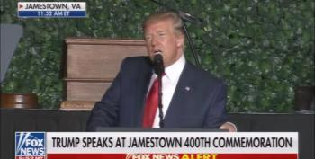 Protester Interrupts Trump Speech At Jamestown Virginia