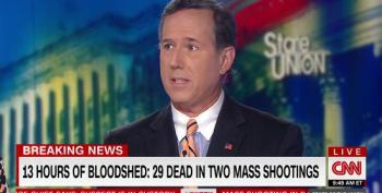Rick Santorum Rattles Off NRA Talking Points On Gun Control And Mass Shootings