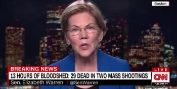 Warren: Trump Is On The Side Of The Gun Manufacturers