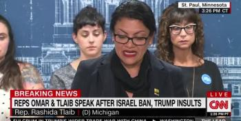 Rep. Rashida Tlaib's Emotional Statement About Netayahu Banning Her