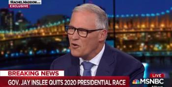 Gov. Jay Inslee Tells Rachel Maddow He's Dropping Out Of The 2020 Race