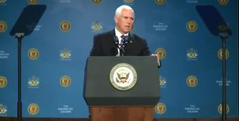 Mike Pence Pushes 'VA Bible Lie' At Veteran Event
