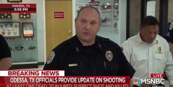 Odessa, TX Police Chief Holds Press Conference On Mass Shooting