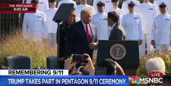More Disgusting Lies From Trump At 9/11 Pentagon Memorial