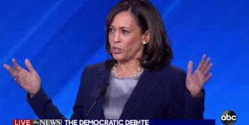 Kamala Harris Interrupts Dems' Healthcare Fight To Remind That Trump Wants To Kill ACA