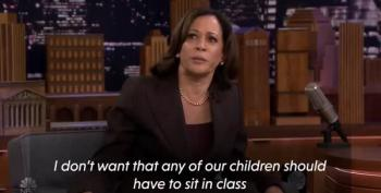 Kamala Harris Asks Fallon Audience Questions About Active Shooter Drills