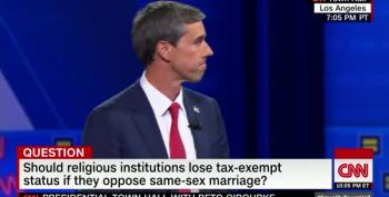 Beto Says Anti-Gay Religious Organizations Should Lose Tax Exemptions