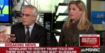 David Corn And Cynthia Alksne Rip Apart Ridiculous Talking Point On 'Corrupt' Quid Pro Quo
