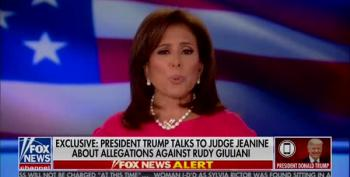 Jeanine Pirro On The Phone With Trump Re 'Alleged' Dinner
