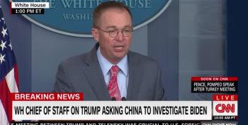 CORRUPTION: Mulvaney Admits Quid Pro Quo, 'Get Over It'
