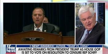 Newt Gingrich Attacks Adam Schiff For Not Being 'Sober' And 'Realistic' During Hearings