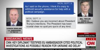 Reports: Ambassador Taylor's Testimony Damning