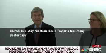 Hah! Watch Republicans Scurry When Asked About Taylor Testimony