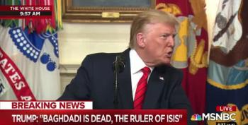 Trump's Fantasy: Al-Baghdadi Was 'Screaming, Crying And Whimpering'