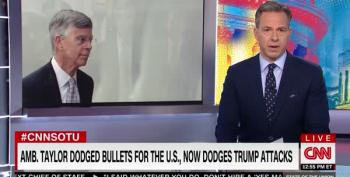 Tapper Lays Into Donald Trump For Smearing Ambassador Taylor