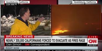 California Wildfires 'Dangerously Close' To The 405 Freeway