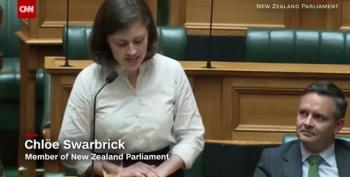 New Zealand Politician Levels Heckler Of Her Climate Crisis Speech With 'OK, Boomer'