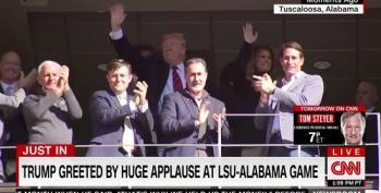 Trump Greeted By Huge Applause At LSU-Alabama Game