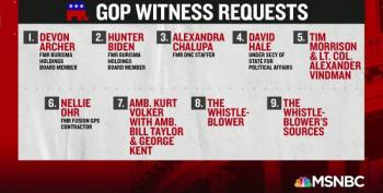 Republicans Release Wish List Of Witnesses For Impeachment Hearings
