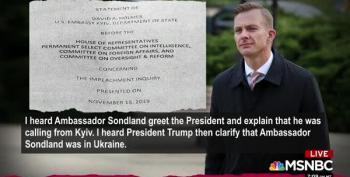 David Holmes' Testimony Will Make Gordon Sondland's Hearing VERY Interesting
