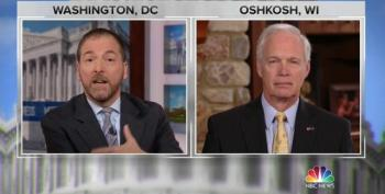 Chuck Todd Grills Sen. Ron Johnson On Ukraine: 'You Seem To Blame This On Everybody But The President'