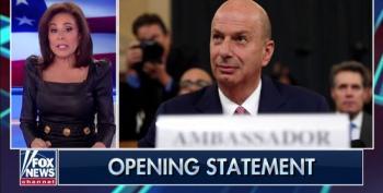 Fox's Pirro Calls Gordon Sondland  'Deep State Bureaucrat'