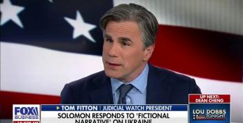 Tom Fitton: Trump 'Right To Rely On Rudy Giuliani Rather Than' Vindman And Hill