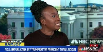 Joy Reid Slams Poll That Says Republicans Think Trump Is A Better President Than Lincoln