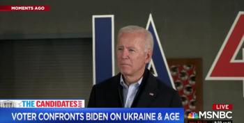 Biden Tangles With Voter Over Hunter Biden Lies: 'I Saw It On TV'