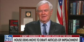 Newt Gingrich Whines About Impeachment Grinches