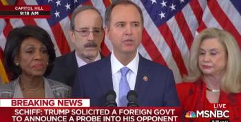 Schiff: Impeachment Delayed Lets Trump Cheat 'One More Time""