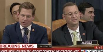 VILE: Doug Collins SMIRKS As Rep. Swalwell Reminds Him Ukrainians Were Killed