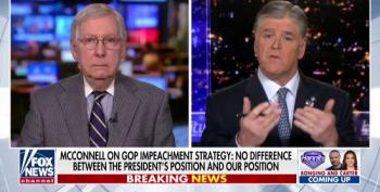 McConnell Tells Hannity He's Coordinating With White House Lawyers On Impeachment