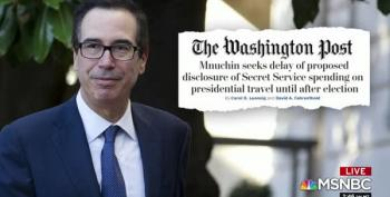Steve Mnuchin Won't Disclose To Congress How Much It Costs To Protect Trump Clan