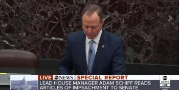 IMPEACHMENT TRIAL: Rep. Adam Schiff Reads The Articles Of Impeachment