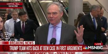 Sen. Tim Kaine Shot Down Trump Team's Bogus Ukraine Arguments